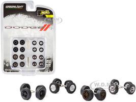 Dodge Wheels Tires Multipack Set 24 pieces Wheel & Tire Packs Series 4 1/64 Greenlight 16070 B