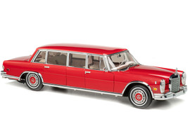 1972 Mercedes Benz 600 Pullman W100 Limousine Red Baron Limited Edition 800 pieces Worldwide 1/18 Diecast Model Car CMC 216