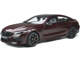 BMW M8 Gran Coupe Ametrin Red Metallic Black Top Limited Edition 1200 pieces Worldwide 1/18 Model Car GT Spirit GT285