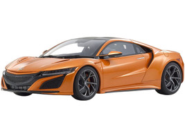 Honda NSX RHD Right Hand Drive Orange Metallic Carbon Top 1/18 Model Car Kyosho KSR18023P