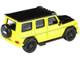 Mercedes AMG G63 Liberty Walk Wagon Bright Yellow Black Hood Top 1/64 Diecast Model Car Paragon PA-55164