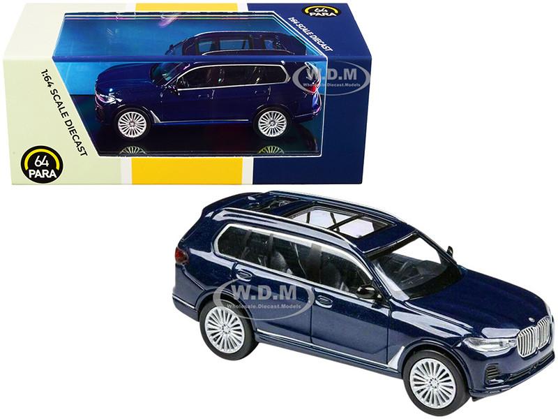 BMW X7 Tanzanite Blue Metallic 1/64 Diecast Model Car Paragon PA-55193