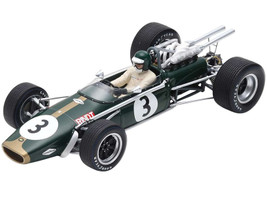 Brabham BT24 #3 Jochen Rindt 3rd South African GP Grand Prix F1 Formula One 1968 1/18 Model Car Spark 18S504