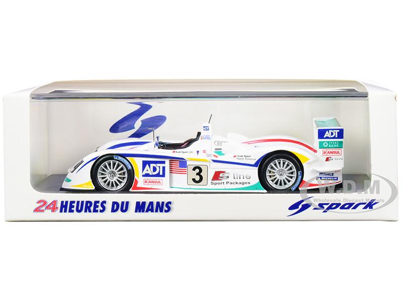 Audi R8 #3 JJ Lehto Werner Kristensen Winner 24 Hours Le Mans 2005 1/43 Model Car Spark 43LM05