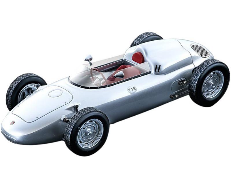 1960 Porsche 718 F2 Press Version Silver Mythos Series Limited Edition 85 pieces Worldwide 1/18 Model Car Tecnomodel TM18-136A