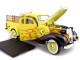 1937 Studebaker Pickup Yellow With Accessories 1/24 Diecast Car Unique Replicas 18566