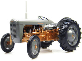 1956 Ferguson FE 35 Tractor Gray Gold 1/16 Diecast Model Universal Hobbies UH2986