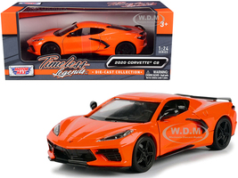 2020 Chevrolet Corvette C8 Stingray Orange Timeless Legends 1/24 Diecast Model Car Motormax 79360