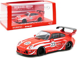 Porsche RWB 993 #23 RWBWU Red White Stripes RAUH-Welt BEGRIFF 1/43 Diecast Model Car Tarmac Works T43-014-WU