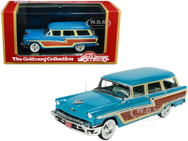 1956 Mercury Monterey Station Wagon Lauderdale Blue Wood Paneling Limited Edition 220 pieces Worldwide 1/43 Model Car Goldvarg Collection GC-012 B