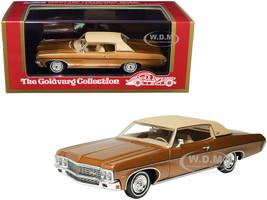 1970 Chevrolet Impala Custom Coupe Caramel Bronze Metallic Matt Tan Top Limited Edition 220 pieces Worldwide 1/43 Model Car Goldvarg Collection GC-029 A