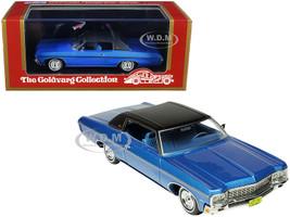 1970 Chevrolet Impala Custom Coupe Mulsanne Blue Metallic Matt Black Top Limited Edition 220 pieces Worldwide 1/43 Model Car Goldvarg Collection GC-029 B