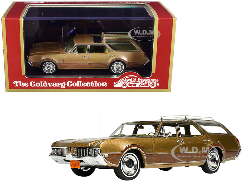 1969 Oldsmobile Vista Cruiser Roof Rack Aztec Gold Metallic Wood Paneling Limited Edition 230 pieces Worldwide 1/43 Model Car Goldvarg Collection GC-040 A