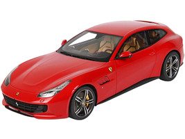 Ferrari GTC4 Lusso Rosso Corsa 322 Red DISPLAY CASE Limited Edition 44 pieces Worldwide 1/18 Model Car BBR P18129C1