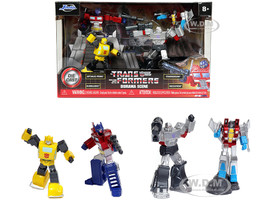 The Transformers Diorama Scene Set 4 Diecast Figurines Nano Hollywood Rides Diecast Models Jada 31352