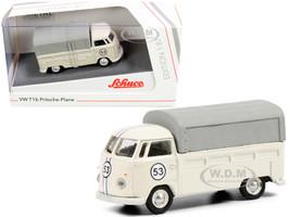 Volkswagen T1b Pritsche Plane Pickup Truck Canopy #53 Cream 1/87 HO Diecast Model Schuco 452650300