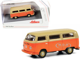 Volkswagen T2a Bus Orange Yellow 1/87 HO Diecast Model Schuco 452650800