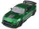 2020 Ford Mustang Shelby GT500 Candy Apple Green Metallic White Stripes 1/18 Model Car GT Spirit GT834