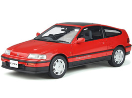 Honda CR-X Mk.2 DOHC RHD Right Hand Drive Sunroof Rio Red Limited Edition to 1500 pieces Worldwide 1/18 Model Car Otto Mobile OT855