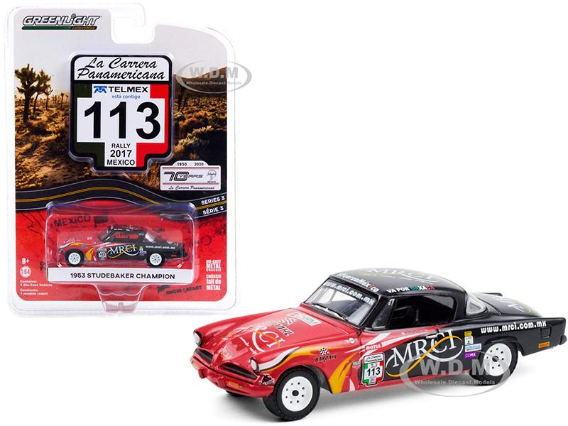 1953 Studebaker Champion #113 MRCI Rally Mexico 2017 La Carrera Panamericana Series 3 1/64 Diecast Model Car Greenlight 13280 A
