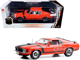 1970 Ford Mustang BOSS 302 Fastback Calypso Coral Black Stripes Lot #790 Barrett-Jackson Scottsdale 2019 1/18 Diecast Model Car Highway 61 18030