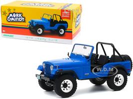 1972 Jeep CJ-5 Blue Mork & Mindy 1978 1982 TV Series 1/18 Diecast Model Car Greenlight 19079