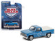 1981 Chevrolet C20 Custom Deluxe Pickup Truck Bed Cover Light Blue Metallic Blue Collar Collection Series 8 1/64 Diecast Model Car Greenlight 35180 D