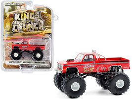 1987 Chevrolet Silverado Monster Truck Crimson Giant Red Kings of Crunch Series 8 1/64 Diecast Model Car Greenlight 49080 F