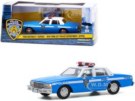 1990 Chevrolet Caprice New York City Police Dept NYPD Light Blue White Top 1/43 Diecast Model Car Greenlight 86583