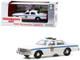 1980 Chevrolet Caprice Punxsutawney Police White Groundhog Day 1993 Movie 1/43 Diecast Model Car Greenlight 86584