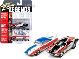 1970 Dodge Challenger Dick Landy 1970 Plymouth Superbird Sox & Martin Legends of the Quarter Mile Set of 2 Cars 1/64 Diecast Model Cars Johnny Lightning JLPK011