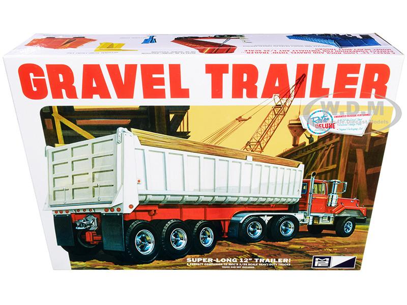 Skill 3 Model Kit Gravel Trailer 1/25 Scale Model MPC MPC823