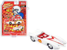 Speed Racer Mach 5 Five White Japan Nostalgia Version Limited Edition 4800 pieces Worldwide 1/64 Diecast Model Car Johnny Lightning JLCP7349