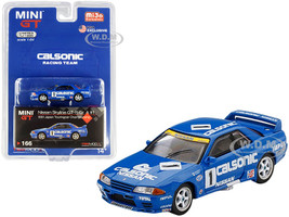 Nissan Skyline GT-R Gr.A RHD Right Hand Drive #1 Calsonic Japan Touring Car Championship JTCC 1991 Limited Edition 1200 pieces Worldwide 1/64 Diecast Model Car True Scale Miniatures MGT00166