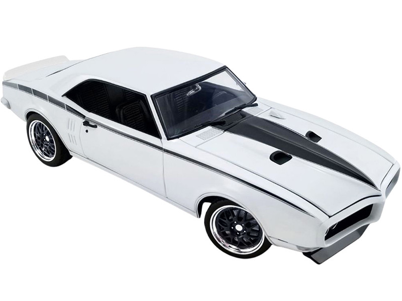 1968 Pontiac Firebird Street Fighter Cameo Ivory White Black Stripes Limited Edition 690 pieces Worldwide 1/18 Diecast Model Car ACME A1805212