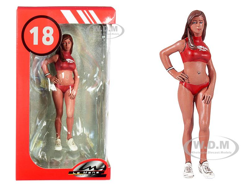 2000's Julia Miss Hawaiian Tropic Figurine 1/18 Scale Models Le Mans Miniatures 118037-P1