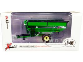 J&M 1112 X-Tended Reach Grain Cart Single Wheels Green 1/64 Diecast Model SpecCast CUST1863