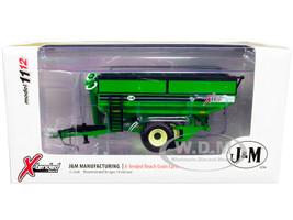 J&M 1112 X-Tended Reach Grain Cart Dual Wheels Green 1/64 Diecast Model SpecCast CUST1864