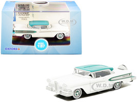 1958 Edsel Citation Snow White Turquoise 1/87 HO Scale Diecast Model Car Oxford Diecast 87ED58007