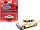 1955 Ford 4-Door Sedan Taxi Yellow Cream 1/87 HO Scale Model Car Classic Metal Works 30600
