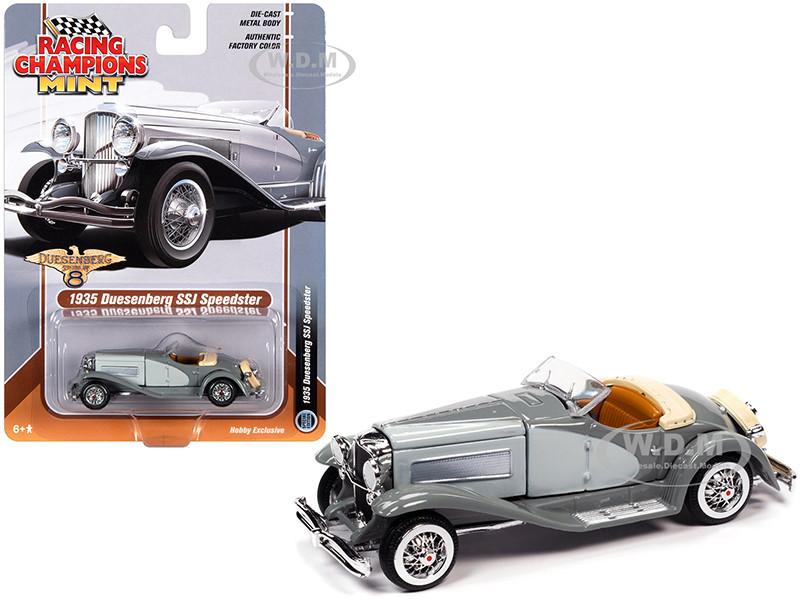1935 Duesenberg SSJ Speedster Dark Gray Light Gray 1/64 Diecast Model Car Racing Champions RCSP014