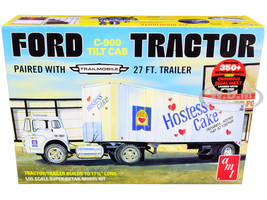 Skill 3 Model Kit Ford C-900 Truck Trailmobile Trailer Hostess 1/25 Scale Model AMT AMT1221