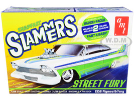Skill 1 Snap Model Kit 1958 Plymouth Street Fury Slammers 1/25 Scale Model AMT AMT1226 M