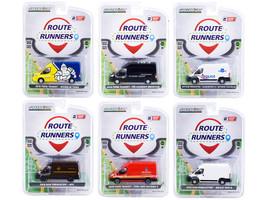 Route Runners Set 6 Vans Series 2 1/64 Diecast Models Greenlight 53020