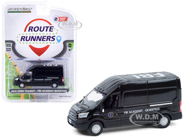 2015 Ford Transit Van Black FBI Academy Quantico Quantico 2015 2018 TV Series Route Runners Series 2 1/64 Diecast Model Greenlight 53020 B