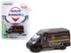 2018 Ram ProMaster 2500 Cargo High Roof Van Brown United Parcel Service UPS Worldwide Services Route Runners Series 2 1/64 Diecast Model Greenlight 53020 D