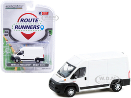 2019 Ram ProMaster 2500 Cargo High Roof Van Bright White Route Runners Series 2 1/64 Diecast Model Greenlight 53020 F