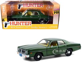 1977 Dodge Monaco Green Metallic Rick Hunter's Hunter 1984 1991 TV Series 1/24 Diecast Model Car Greenlight 84123
