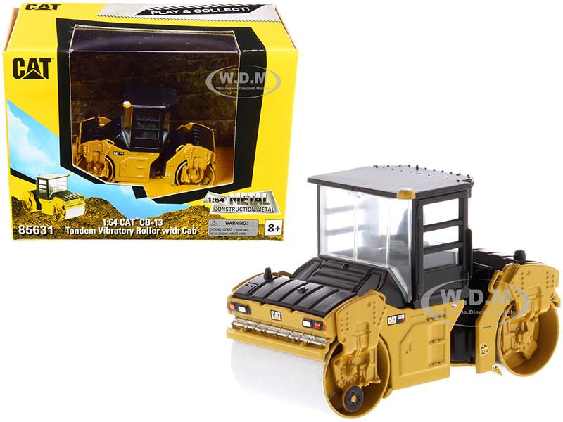CAT Caterpillar CB-13 Tandem Vibratory Roller Cab Play & Collect Series 1/64 Diecast Model Diecast Masters 85631