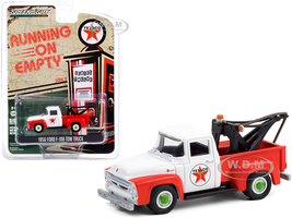 1956 Ford F-100 Tow Truck Texaco Filling Station Red White Running on Empty Series 12 1/64 Diecast Model Greenlight 41120 B